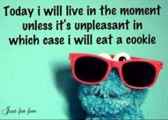 pin - live in the moment and cookie