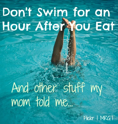 don't swim for an hour