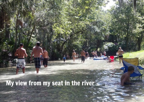 my seat in the river