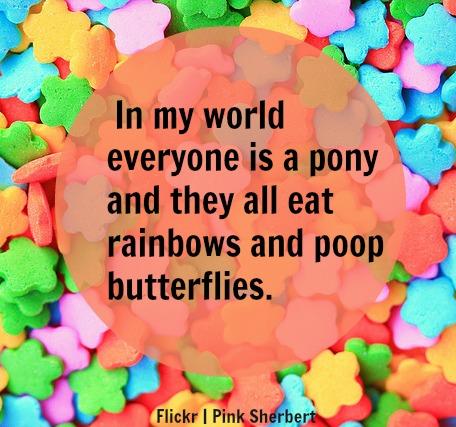 poop butterflies