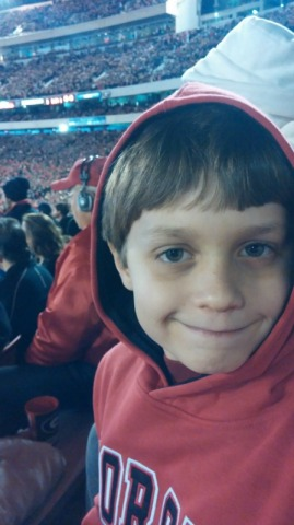 UGA game face