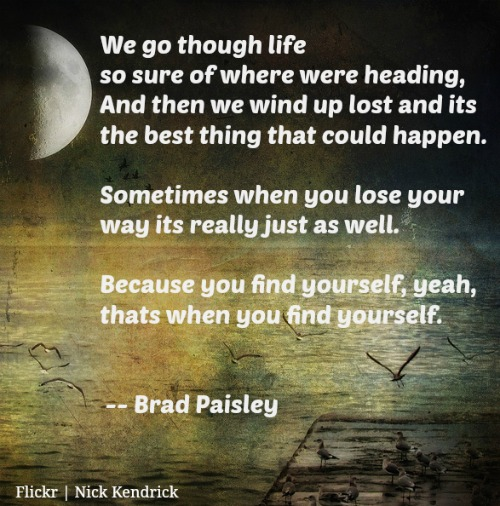 find yourself brad paisley