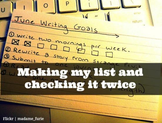 making my list