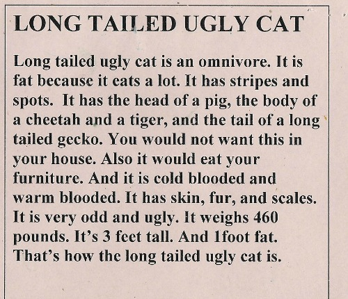 long tailed ugly cat