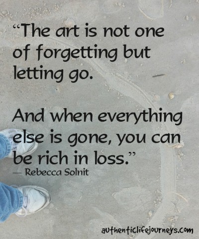 the art in letting go