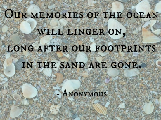 Our memories of the ocean