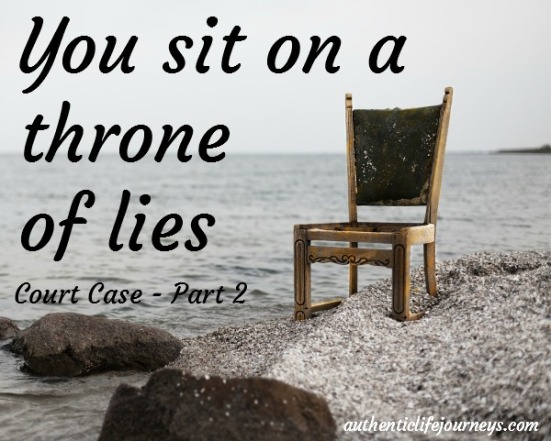 sit on a throne